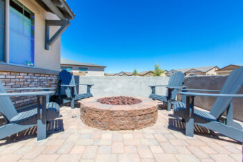Create the perfect seating area around a firepit for your family and guests to enjoy.