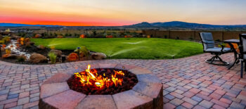 Sit on your patio around a firepit watching the sunset light up..