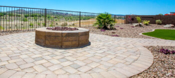Create a circular space with Pavers and a Firepit