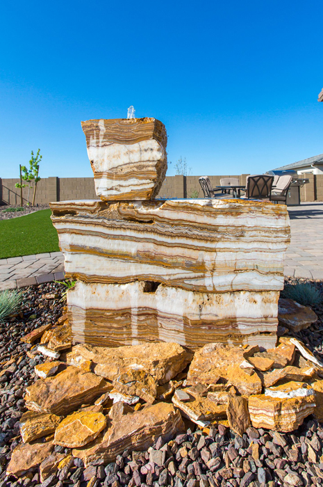 We build unique rock fountains to fit any yard and style.