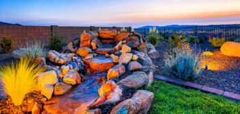 Rock Waterfalls accent any Yard