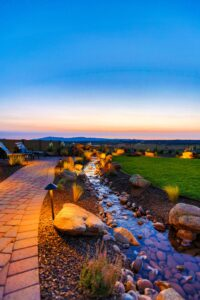 Outdoor Lighting adds mood and feel to your yard.